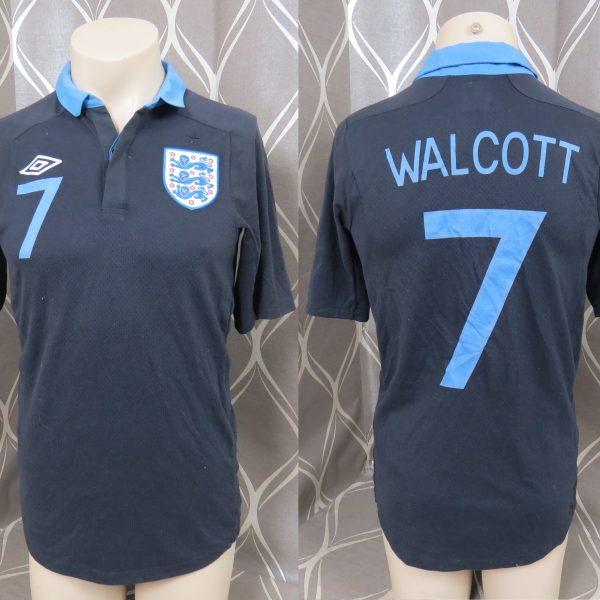 England 2011-12 away shirt Umbro soccer jersey Walcott 7 size S EURO 2012 ( 73185d836