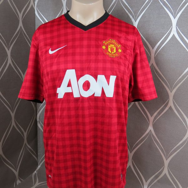 4c12662fc56 Manchester United 2012-13 home shirt Nike soccer jersey size L ...