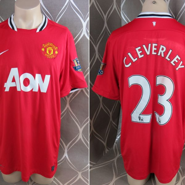 6fe5bb3dc2a Manchester United 2011-12 EPL home shirt Nike jersey Cleverly 23 size XL (1