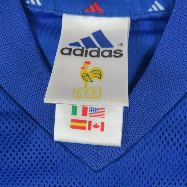 France World Cup 2002 home shirt adidas soccer jersey size XS ... 58688ba34