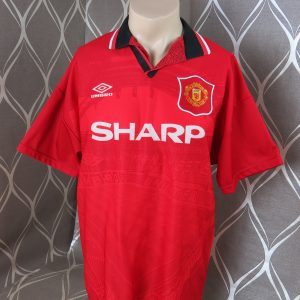 23035a292 Manchester United 1994-96 home shirt Umbro soccer jersey size L