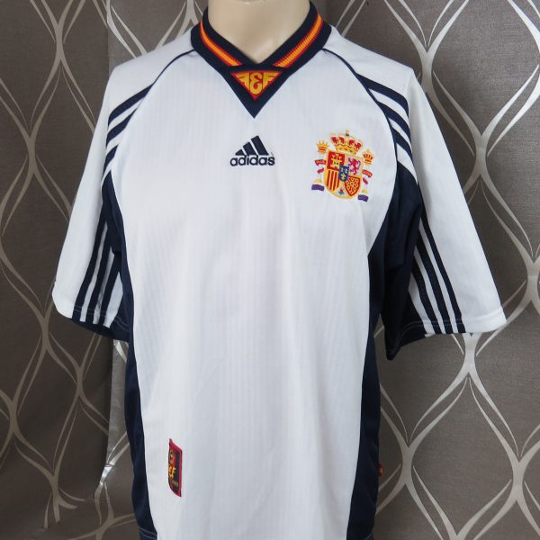 d15603cb965 Spain 1998 away shirt soccer jersey adidas Hierro 6 size M World Cup 1998 (1