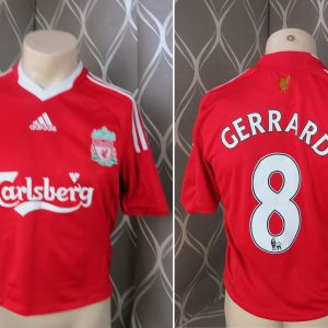 6b9366933 Liverpool 2008-10 home shirt adidas Gerrard  8 size S cropped
