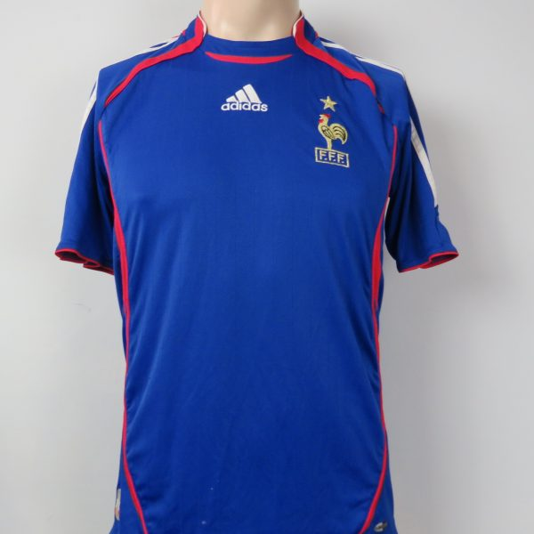 new arrivals 28052 eafca Rare FRANCE 2006-07 home shirt adidas soccer jersey size M (World Cup 2006)