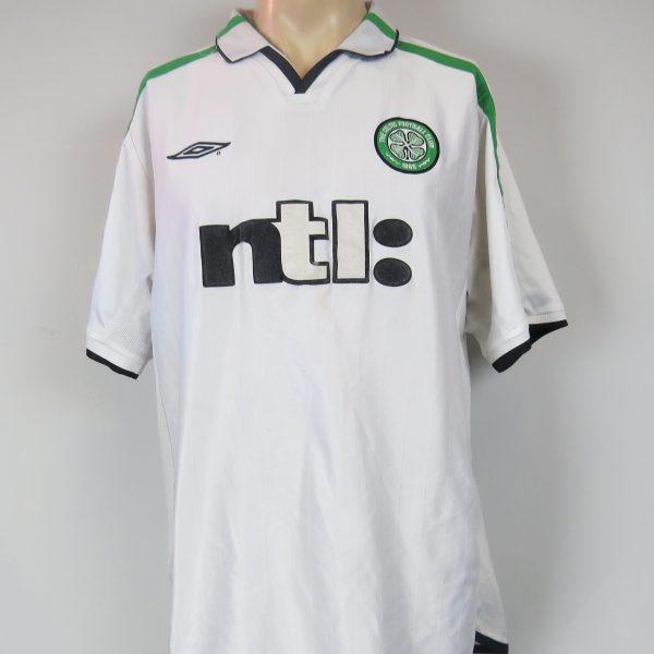e5c2becf2b6 Celtic 2001-02 away shirt UMBRO soccer jersey size XL 44-46 ...