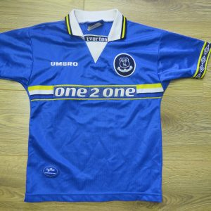 Everton 1997-99 home shirt Umbro soccer jersey size Boys S 134cm 9-10Y be96ab7df