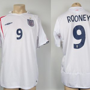 cdd92abe6 England 2005-07 home shirt Umbro soccer jersey Rooney 9 size L WC2006