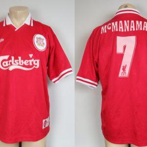 47acd2527 Liverpool 1996-98 home shirt Reebok soccer jersey McManaman 7 size M 38-40″