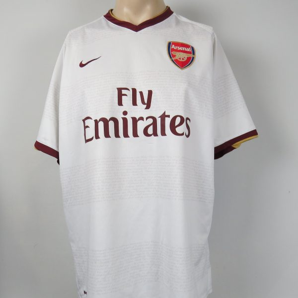 Arsenal 2007-08 away shirt Nike soccer jersey size L – Football ... f356e670b