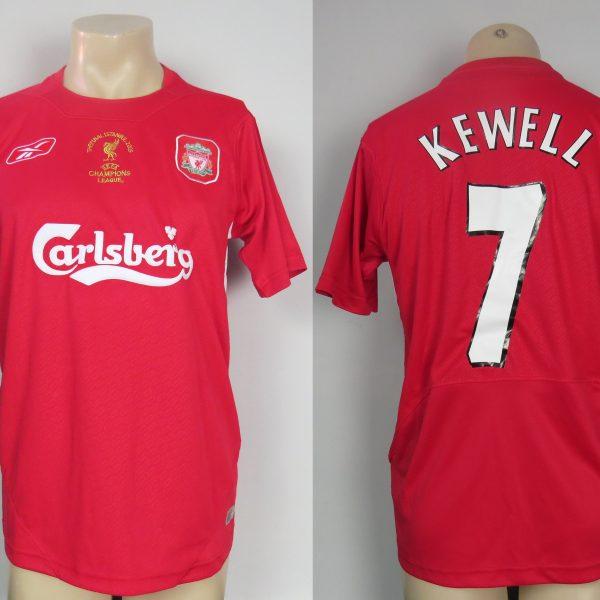 90d4e3788f2 Liverpool 2005 Final home shirt Reebok soccer jersey Kewell 7 size L Remake  (1)