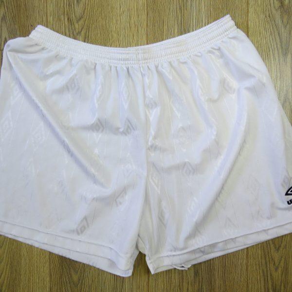 b2ea6d3e3 Umbro white soccer football shorts mid 1990ies model size 38″ XL ...