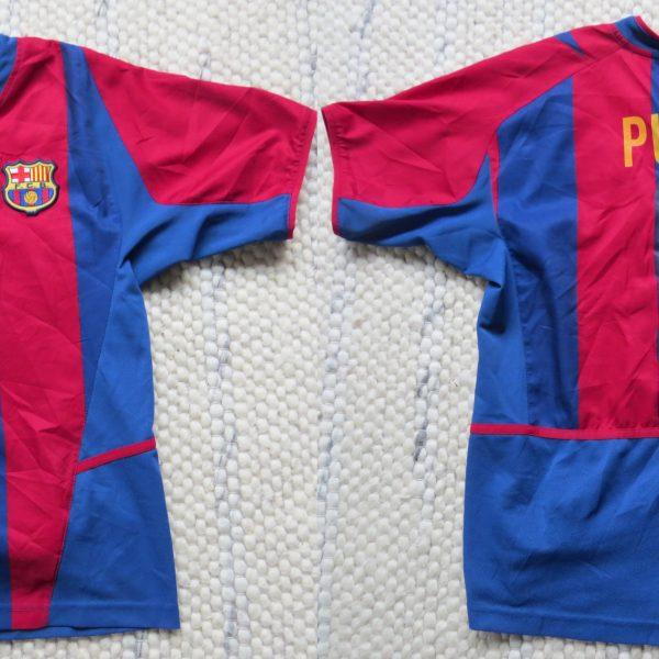 on sale f2aa8 cb67a Barcelona 2002 2003 home shirt Nike Puyol 5 size Boys L 152-158 jersey