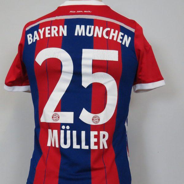 new arrival 455fc b990b Bayern Munchen 2014-15 home shirt adidas Muller 25 Boys L 13/14Y 164