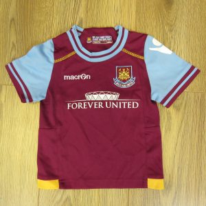 94510b0dc18 West Ham United 2011-12 home shirt Macron size baby 6-12mth 74cm