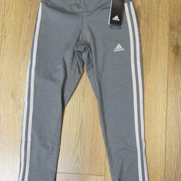 d9ea00eda4577 Adidas grey white tight 34 leggings Yoga Sports size XS BNWT RRP34 (1)