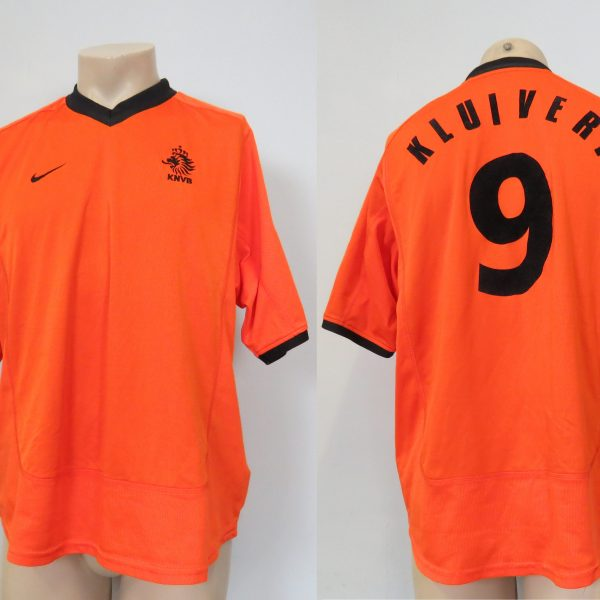 Holland 2000-02 shirt Netherlands home Nike jersey Kluivert 9 size L  (EURO2000) 9ae84815c