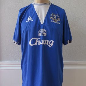 Vintage Everton 2009-10 home shirt Le Coq soccer jersey size L 7888d1c66