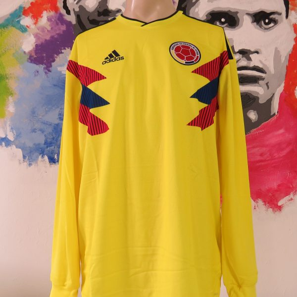 e8bd5eaf5 Colombia 2018-19 ls home shirt adidas climalite soccer jersey size L BNWT ( World
