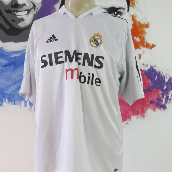 free shipping 656f7 937b0 Real Madrid 2004-05 home shirt adidas soccer jersey Raul 7 size L