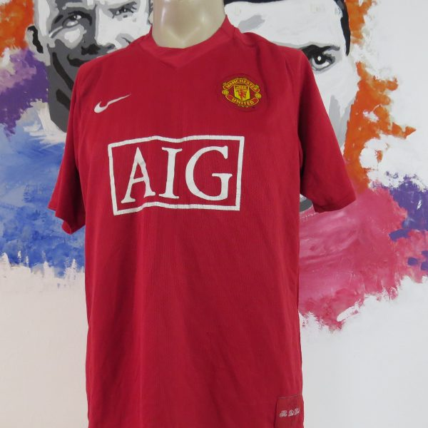9c54aed02 Vintage Manchester United 2007-09 home shirt Nike soccer jersey size L (7)