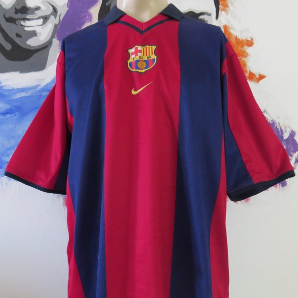 low priced dc10b e344b Barcelona 2000-01 home stadium shirt Nike soccer jersey size L