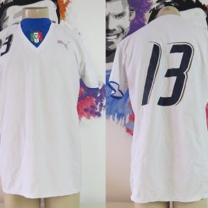 f62f7891f61 Player issue Italy 2006-07 away shirt Puma soccer jersey #13 size L Italia