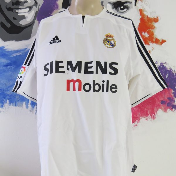 new concept 92c59 706f5 Real Madrid 2003-04 home shirt adidas soccer jersey size L