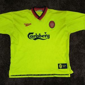 abcf6cbb0 Vintage Liverpool 1997-1999 away shirt reebok soccer jersey L 42-44″