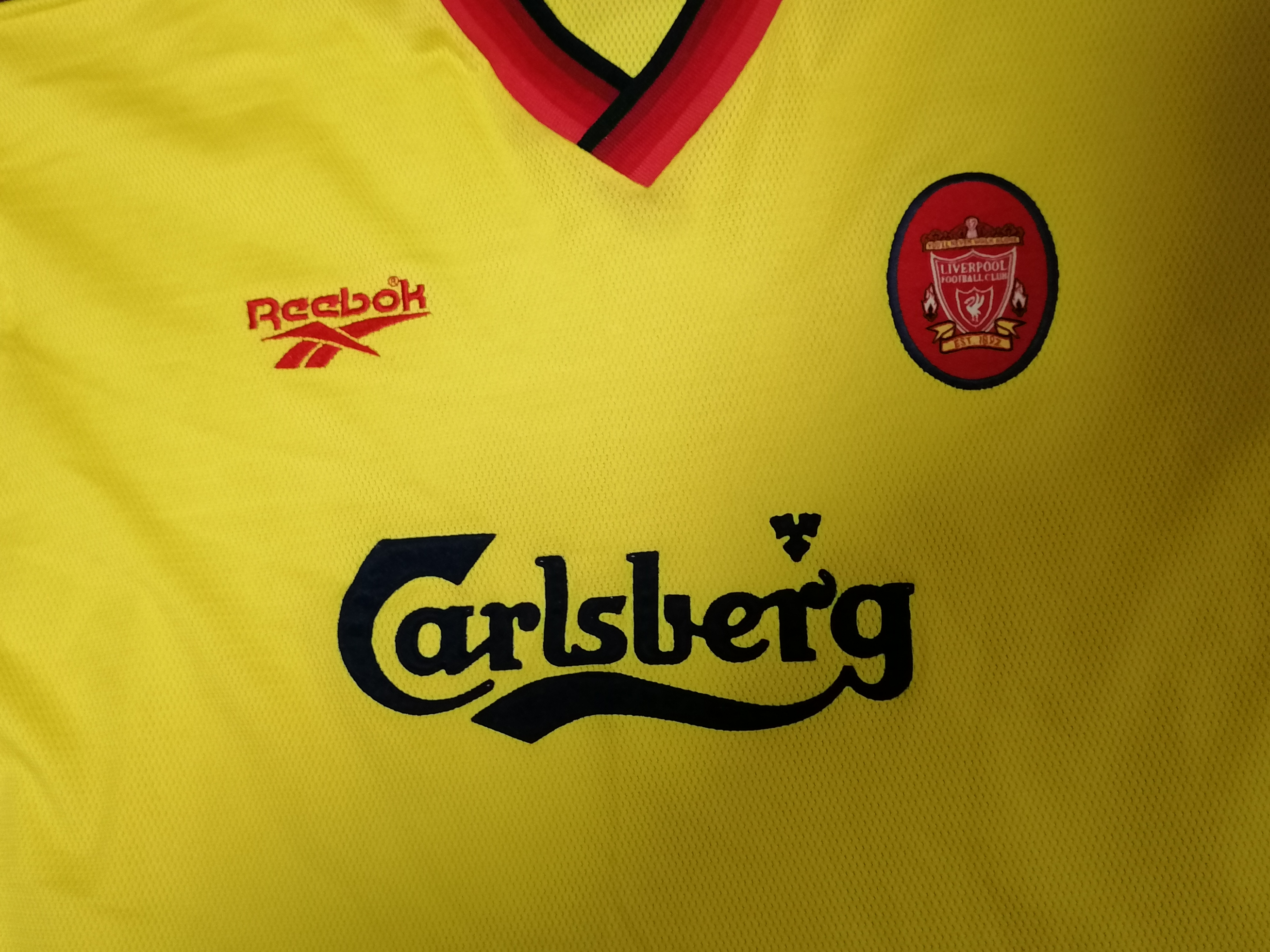 93ccbbc5c Vintage Liverpool 1997-1999 away shirt reebok soccer jersey L 42-44″ – Football  Shirts 4 All