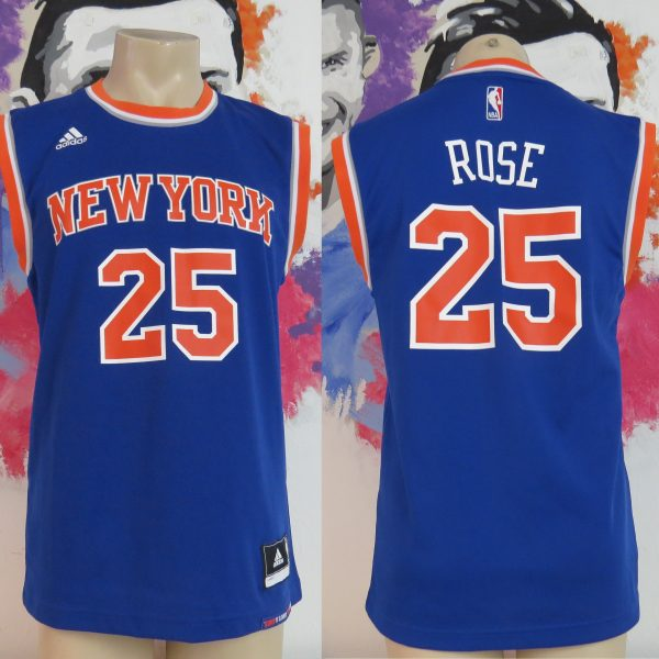 huge selection of 32bf5 7f363 NBA New York Knicks #25 Rose 2016 home jersey adidas basketball Shirt size S