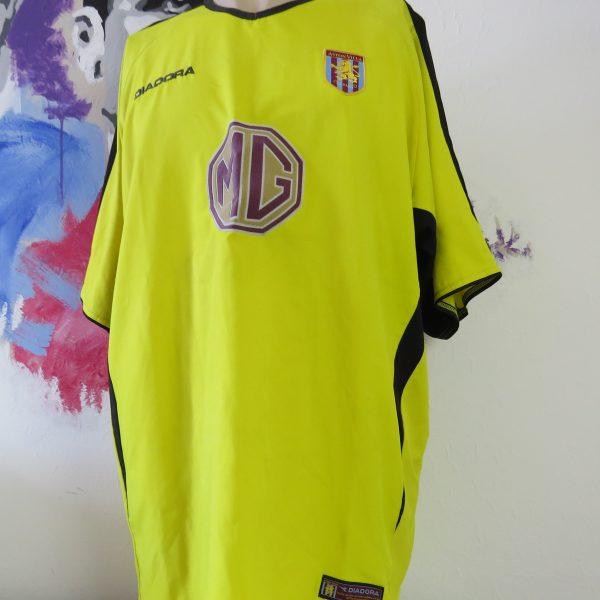 detailing ff2fa b2ea5 Vintage Aston Villa 2003-04 away shirt Diadora soccer jersey size XL