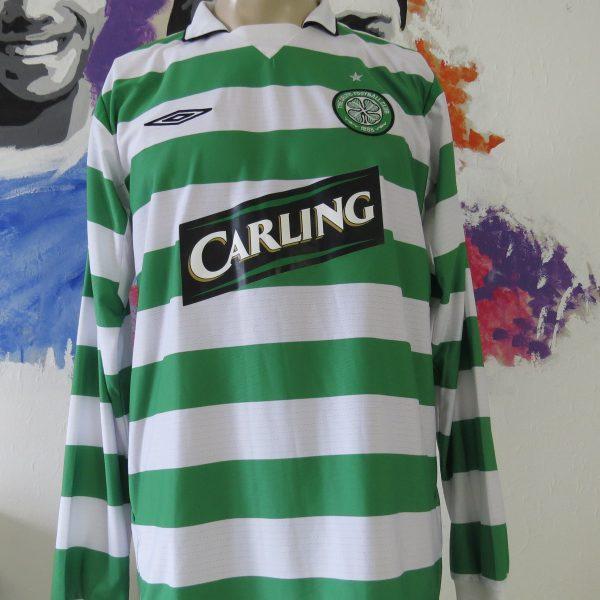 online store b2722 738ae Vintage Celtic 2004 2005 l/s home shirt UMBRO soccer jersey size L