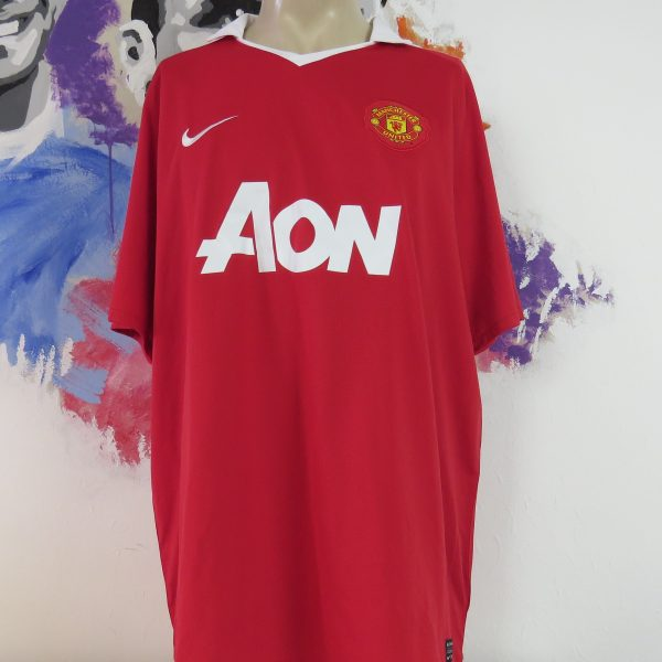 quality design f51aa 4dcaf Manchester United 2010 2011 home shirt Nike soccer jersey size XXL camiseta