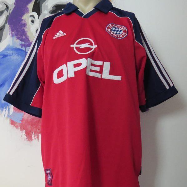 online store 131ba d6185 Vintage Bayern Munchen 1999 2000 2001 home shirt adidas size XL Munich Opel  MINT
