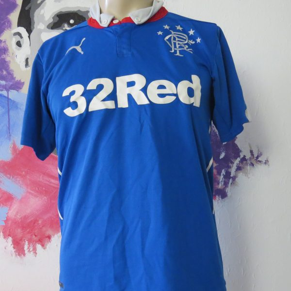 official photos fd03f acb44 Vintage Rangers 2014 2015 home shirt PUMA soccer jersey size S maglia  maillot