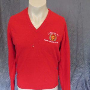 d93f2eaf3 Liverpool 1981 wool 3x European Cup winners red presentation jumper size M